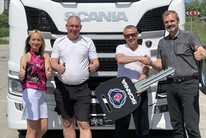 Отгрузка нового седельного тягача SCANIA R440